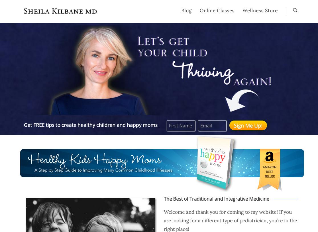 Dr. Sheila Kilbane - Integrative Pediatrician Site
